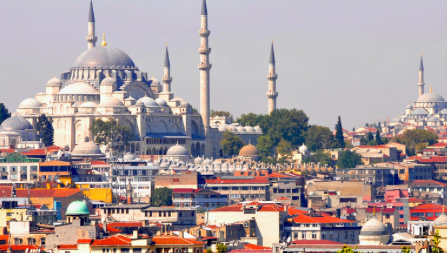 Istanbul, an incredible skyline showcasing ancient minarets and mosques