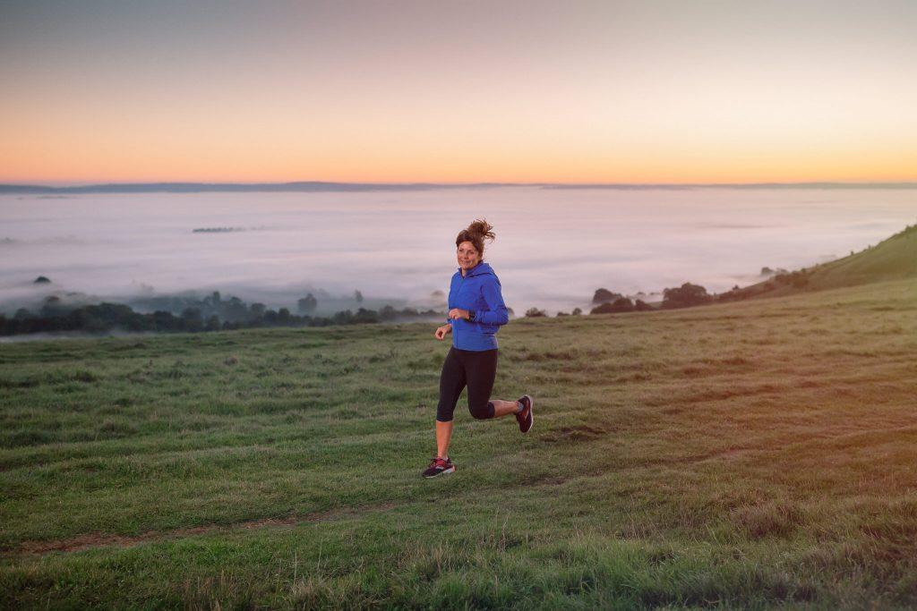 Running outdoors can keep you motivated and balanced