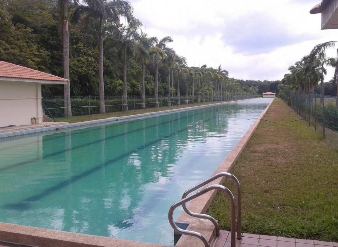 Forget about counting lengths in this 300m pool in Ayer Keroh, Malaysia!