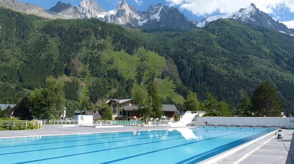This 50m pool in the Chamonix region of the French Alps will give you some high-altitude training
