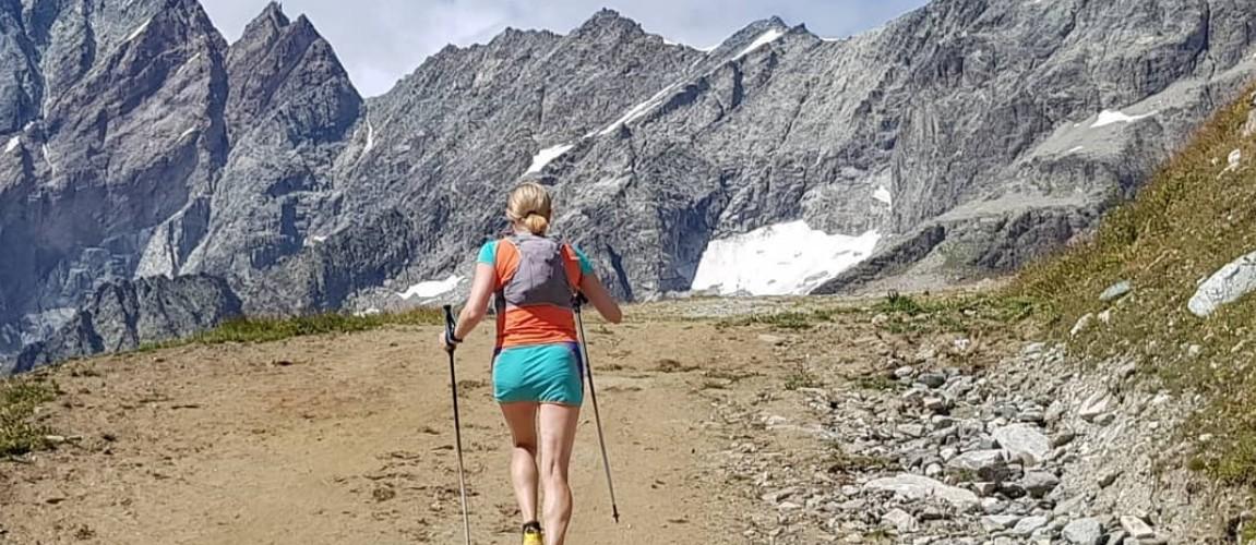 Ultra runner in exploring trails